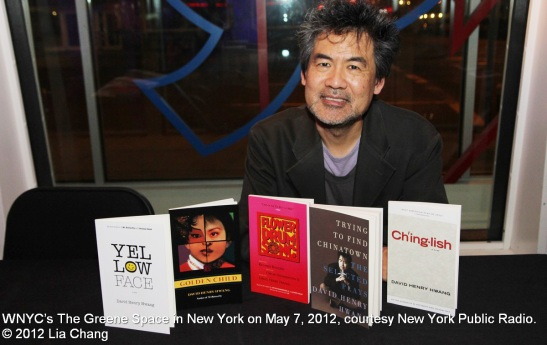David Henry Hwang at WNYC's The Greene Space in New York on May 7, 2012, courtesy New York Public Radio. © 2012 Lia Chang