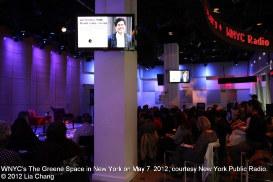 WNYC's The Greene Space in New York on May 7, 2012, courtesy New York Public Radio. © 2012 Lia Chang