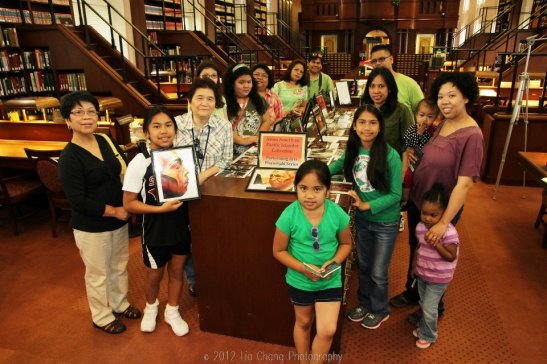 Members of the Mabuhay Inc. Culture School in the Library of Congress' Asian Division Reading Room in the Thomas Jefferson Building in Washington D.C. on May 5, 2012. Photo by Lia Chang