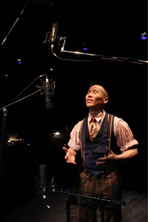 BD Wong, star of Herringbone, in rehearsal at Dixon Place in New York on May 20, 2012. Photo by Lia Chang