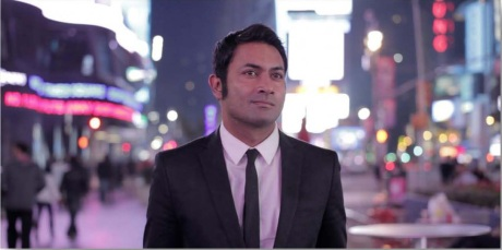 Samat Chakrabarti as Ricky in Shome Banerjee's Hotel New York 2012