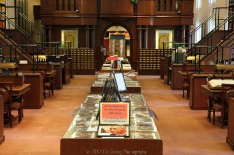 Library of Congress'Asian Division Reading Room in the Thomas Jefferson Building in Washington D.C.  Photo by Lia Chang