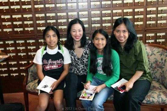 Katherine Argente (age 10), Lia Chang, Kayla Argente (age 13) and Liezl Argente. Photo by Leon Argente