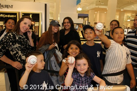 Curtis Granderson fans come in all shapes and sizes at Lord & Taylor Fifth Ave in New York on June 4, 2012. Photo by Lia Chang/Lord & Taylor