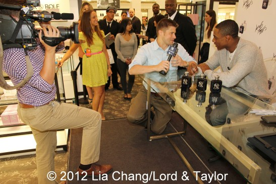 New York Yankees, Curtis Granderson, Lord & Taylor Fifth Ave Flagship Store, New York on New York Yankees ™ Fragrance, Lia Chang, Backstage Pass with Lia Chang, Lord & Taylor