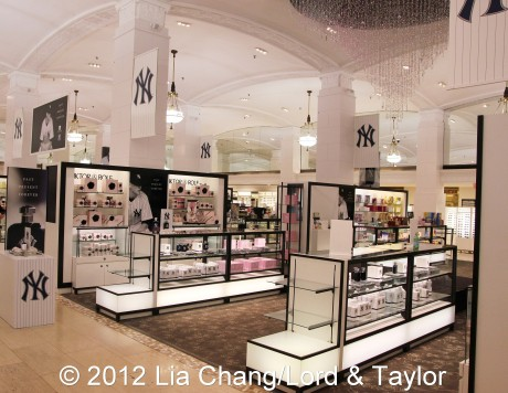 New York Yankees Fragrance at Lord & Taylor Fifth Ave in New York on June 4, 2012. Photo by Lia Chang/Lord & Taylor