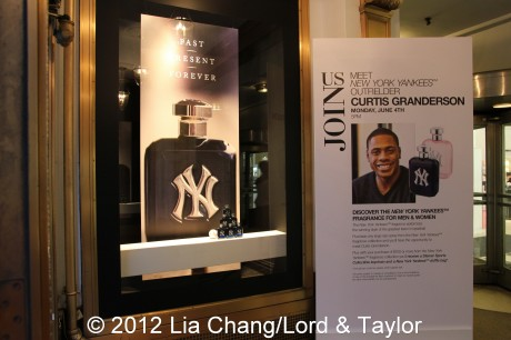 New York Yankees Fragrance Event at Lord & Taylor Fifth Ave in New York on June 4, 2012. Photo by Lia Chang/Lord & Taylor