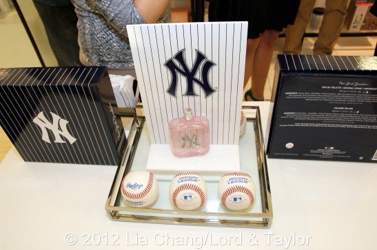 New York Yankees Fragrance for her at Lord & Taylor Fifth Ave in New York on June 4, 2012. Photo by Lia Chang/Lord & Taylor