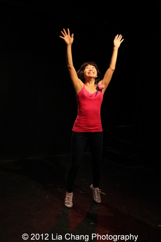 Suzen Murakoshi in rehearsal for Breathe Love Repeat at Under St. Mark's in New York. Photo by Lia Chang