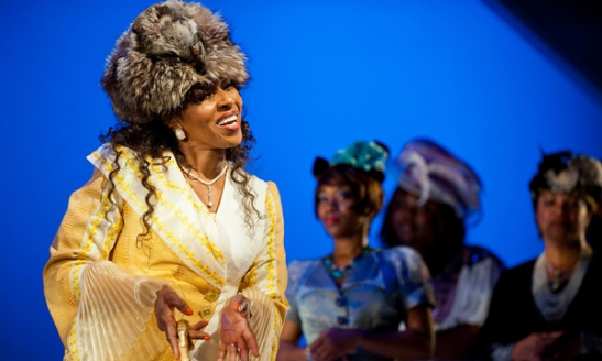 Pauletta Washington as Wanda in the 10th anniversary production of Regina Taylor's Crowns at Goodman Theatre. Photo by Liz Larsen
