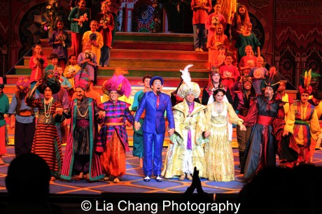 Curtain call for Disney's Aladdin at The Muny in St. Louis. Photo by Lia Chang