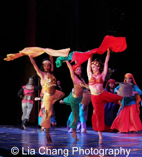 The cast of Disney's Aladdin at The Muny. Photo by Lia Chang