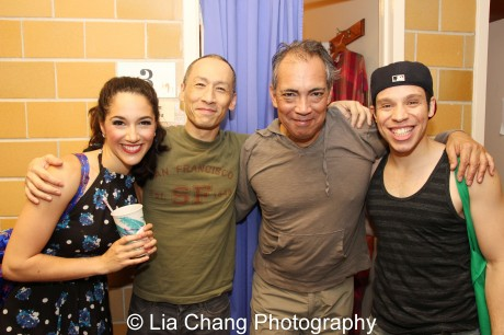 Samantha Massell, Francis Jue, Thom Sesma and Robin de Jesus. Photo by Lia Chang