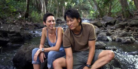 Kimberly-Rose Wolter and Sung Kang in Knots. Photo courtesy of Island Film Group/Knots Production