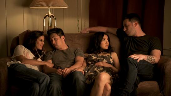 Sheetal Sheth, Parry Shen, Lynn Chen and Kerry McCrohan in Richard Wong and H.P. Mendoza's Yes, We're Open