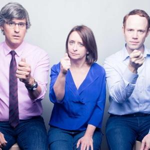 Mo Rocca (left), Rachel Dratch in Tail! Spin!. Photo by Thom Kaine