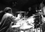 Will Calhoun, Bernard Fowler and Eric Gales at Sullivan Hall in New York on May 18, 2012. Photo by Lia Chang