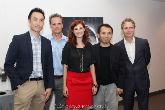 Derek Ting, Michael Park, Stacey Jackson, NY Director of Marketing and Special Events, Sag Foundation, Nick Sakai, SAG-AFTRA National Ethnic Employment Opportunities Committee Member, and Linus Roache. Photo by Lia Chang