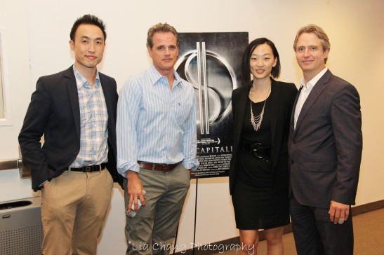 Derek Ting, Michael Park, Joyce Yung and Linus Roache. Photo by Lia Chang