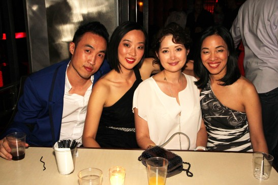 Derek Ting, Joyce Yung, Jane Valentine and Lia Chang celebrate the New York theatrical premiere of Supercapitalist at Crimson on August 10, 2012.
