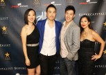 Joyce Yung, Derek Ting, David Hou and Emeline Rodelas at Village East Cinema for the New York theatrical premiere of Supercapitalist on August 10, 2012. Photo by Lia Chang