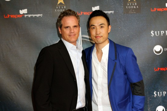 Supercapitalist's stars Michael Park and Derek Ting at Village East Cinema for the New York theatrical premiere on August 10, 2012. Photo by Lia Chang
