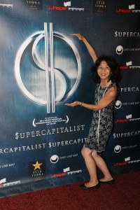 Donna Tsufura attends the New York theatrical premiere of Supercapitalist at the Village East Cinema on August 10, 2012. Photo by Lia Chang