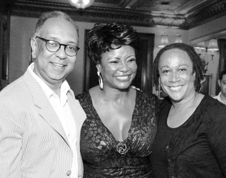 George Wolfe, Tonya Pinkins and S. Epatha Merkerson at 54 Below in New York on August 27, 2012. Photo by Lia Chang