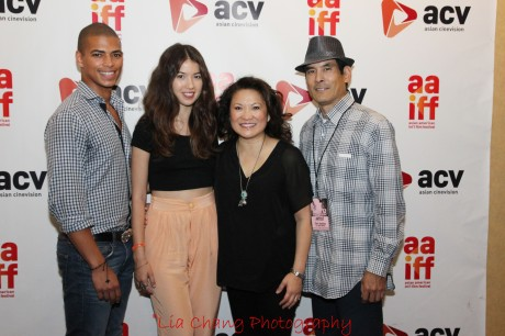 Delon De Metz, Nichole Bloom, Lily Mariye and Chris Tashima at the 35th Asian American International Film Festival screening of Model Minority, at the Clearview Chelsea Cinemas in New York on August 4, 2012. Photo by Lia Chang