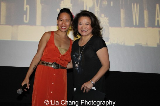 Presenter Kelly Zen-Yie Tsai, a spoken word artist, presents the AAIFF Audience Choice Award for Narrative Feature to Lily Mariye for Model Minority at the Clearview Chelsea Cinemas in New York on August 5, 2012. Photo by Lia Chang