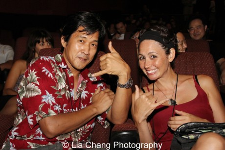 Knots director Michael Kang and writer and star Kimberly-Rose Wolter at the 35th Asian American International Film Festival Closing night screening of Knots, at the Clearview Chelsea Cinema in New York on August 5, 2012. Photo by Lia Chang