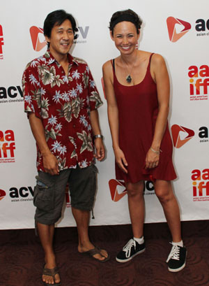4 Wedding Planners director Michael Kang and writer and star Kimberly-Rose Wolter at the 35th Asian American International Film Festival Closing night screening of Knots, at the Clearview Chelsea Cinema in New York on August 5, 2012. Photo by Lia Chang