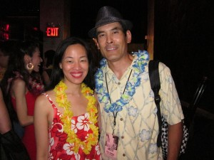Lia Chang and Chris Tashima at DUO Lounge in New York on August 5, 2012. Photo by June Jee