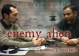 Director Konrad Aderer interviewing Farouk Abdel-Muhti in Hudson County Jail, Kearny, NJ (video still from Enemy Alien)