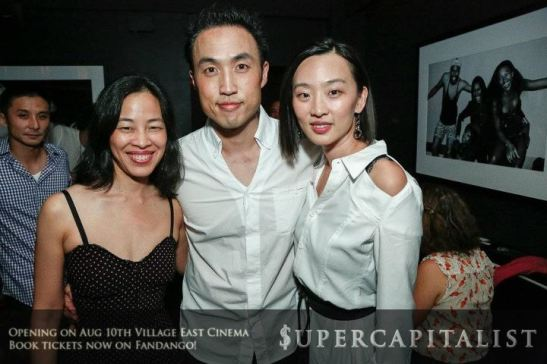 Lia Chang, Derek Ting and Joyce Yung at Parlor in New York for the pre-premiere party of Supercapitalist on August 8, 2012. Photo by Francois Bonneau