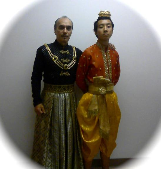 Raul Aranas as The Kralahome and Raphael Aranas as Prince Chulalongkorn. (Photo courtesy of Raul Aranas)