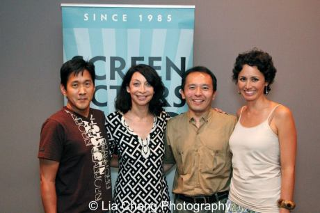 Michael Kang, Illeana Douglas, Nick Sakai and Kimberly-Rose Wolter. photo by Lia Chang