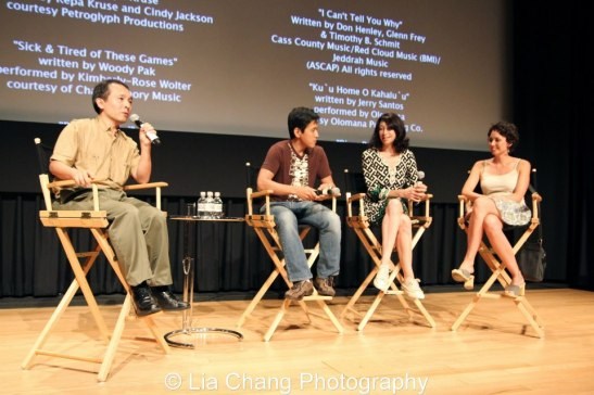 Nick Sakai, Michael Kang, Illeana Douglas and Kimberly Rose Wolter. photo by Lia Chang