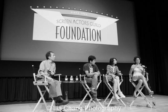 Nick Sakai, Michael Kang, Illeana Douglas and Kimberly-Rose Wolter. photo by Lia Chang