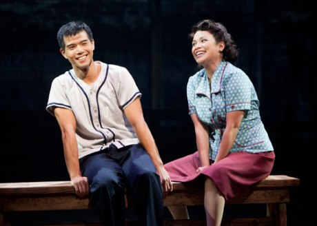 Telly Leung as Sammy Kimura and Lea Salonga as Kei Kimura in the World Premiere of Allegiance - A New American Musical at The Old Globe. Photo by Henry DiRocco.