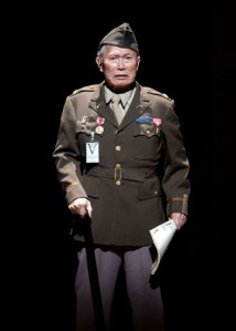 George Takei as Sam Kimura in the World Premiere of Allegiance - A New American Musical at The Old Globe. Photo by Henry DiRocco.