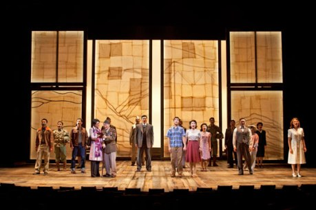 The cast of the World Premiere of Allegiance - A New American Musical at The Old Globe. Photo by Henry DiRocco.