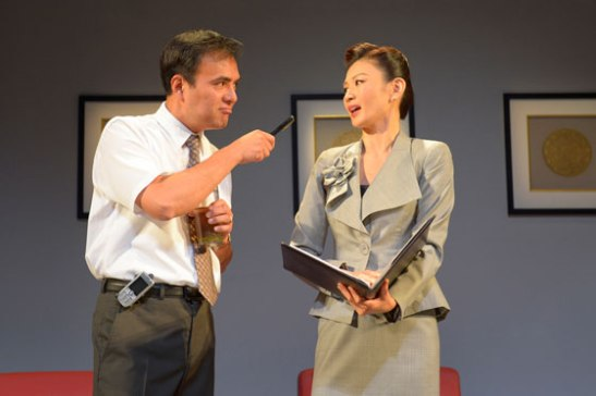 Larry Lei Zhang and Michelle Krusiec star in Berkeley Rep's production of Chinglish, a new comedy from David Henry Hwang. Photo courtesy of kevinberne.com