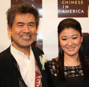 David Henry Hwang and Jennifer Lim (Photo by Lia Chang)
