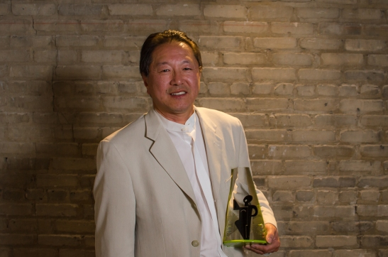 Mu Performing Arts' Artistic director Rick Shiomi, the 2012 Ivey Award recipient for Lifetime Achievement at the State Theatre in Minneapolis, MN. on Monday, September 24, 2012. Photo by Kurt Moses