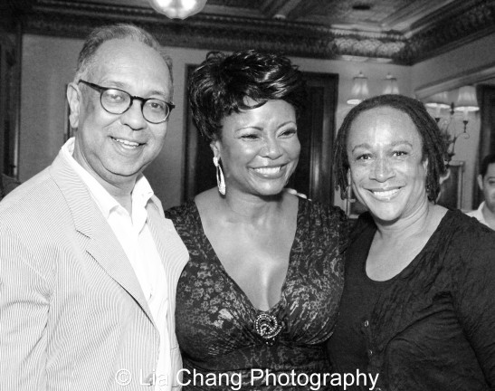 George C. Wolfe, Tonya Pinkins and S. Epatha Merkerson. Photo by Lia Chang