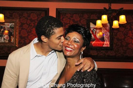 Maxx Brawer and his mom Tonya Pinkins. Photo by Lia Chang
