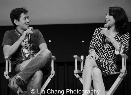 Michael Kang and Illeana Douglas. Photo by Lia Chang