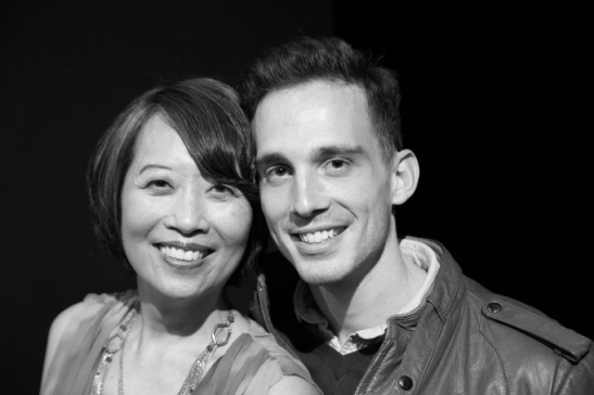 Epic playwrights Jeanne Sakata and Brandt Adams (co-author of DISPATCHES FROM (A)MENDED AMERICA) after the opening performance of Hold These Truths at the Theatre at the 14th Street Y in New York on October 21, 2012.