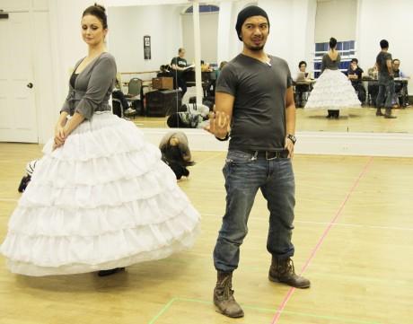 Tamara Jenkins as Anna and Mel Sagrado Maghuyop as The King. (Photo by Lia Chang)